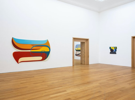 Installation shot.<em> Joanna Pousette-Dart</em> at Wiesbaden Museum 2019. Photo: Bernd Fickert. Courtesy the artist.