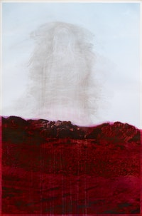 Huma Bhabha, <em>Untitled</em>, 2010. Ink on C-print. Courtesy the artist and Salon 94, New York.
