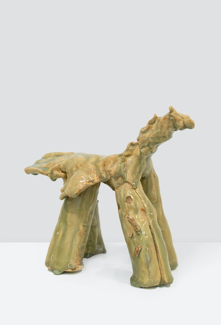 Simone Fattal, <em>Horse</em>, 2009. Glazed stoneware. 8 x 10 x 5 inches. Courtesy the artist and kaufmann repetto, Milan / New York; Balice Hertling, Paris; Karma International, Zurich / Los Angeles.