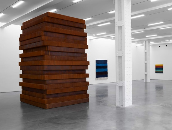 Installation view: <em>Sean Scully: PAN</em>, Lisson Gallery, New York, 2019. © Sean Scully. Courtesy Lisson Gallery.