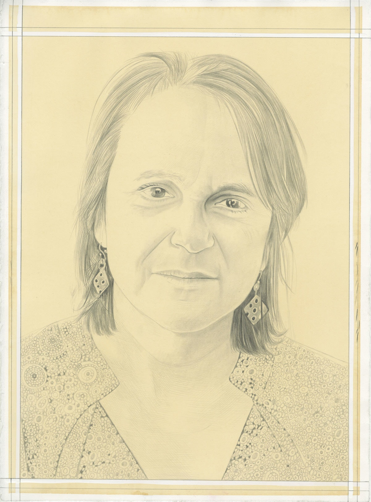 Portrait of Julie Reiss, pencil on paper by Phong Bui.