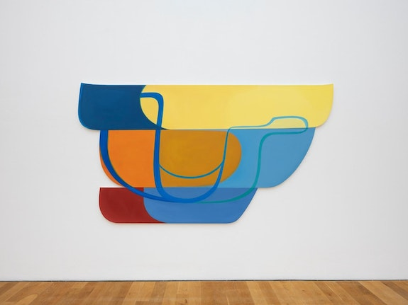 Joanna Pousette-Dart, <em> Three Part Variation #1</em>, 2010, 68.5 x 125 inches. Photo: Bernd Fickert. Courtesy the artist.