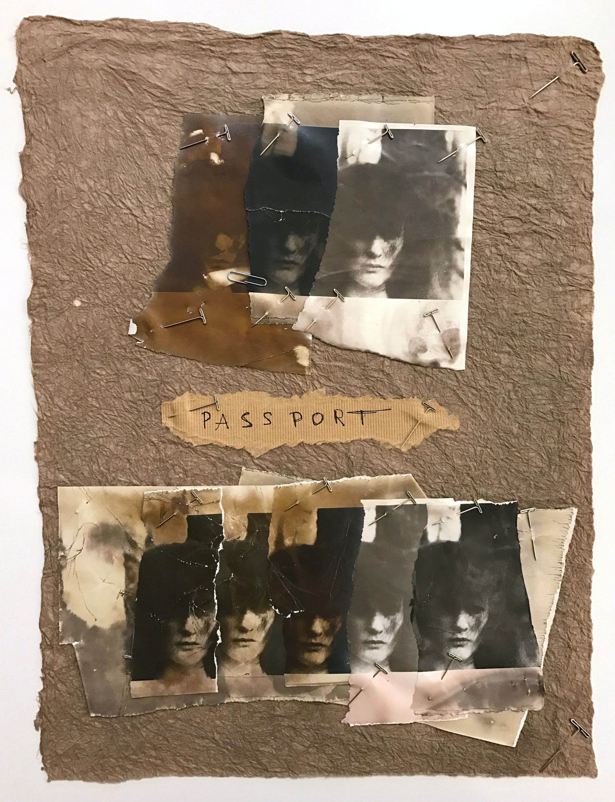 Deborah Turbeville, <em>Passport</em>, 1977. Collage of eight gelatin silver prints mounted on paper, 18 x 13 inches. Courtesy  Deborah Bell Photographs, New York.