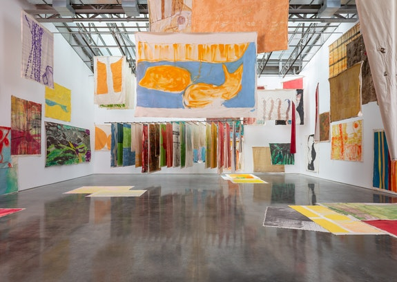 Installation view, <em>Vivian Suter</em>, at Gladstone Gallery, New York, 2019. Courtesy the artist and Gladstone Gallery, New York and Brussels. Photo: David Regen.