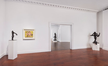 Installation shot, <em>Willem de Kooning: Five Decades</em>, 2019. Courtesy Mnuchin Gallery.