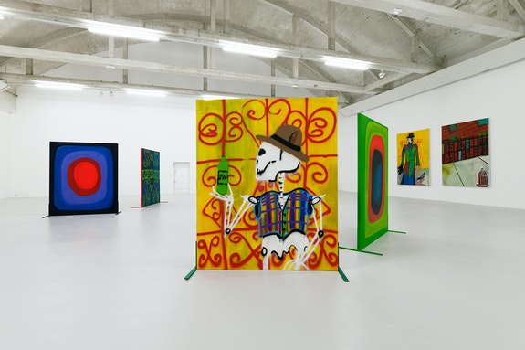 Installation view: <em>Marcus Jahmal: Gumbo</em>, CAC Passerelle, Brest, 2019. Courtesy the artist and CAC Passerelle.