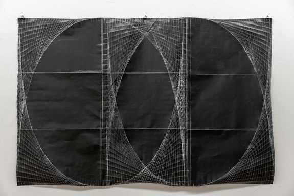 Yasi Alipour, <em>Untitled, To Fakhri Garakani</em>, 2019. Hand fold, pigmented paper, 31 1/4 x 48 inches. Edition of 1. Courtesy the artist.