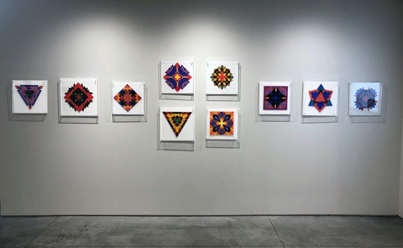 Installation view: <em>Jack Youngerman: Cut-Ups</em>, Washburn Gallery, New York, 2019. Courtesy Washburn Gallery.