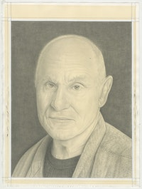 Portrait of Richard Serra, pencil on paper by Phong Bui.