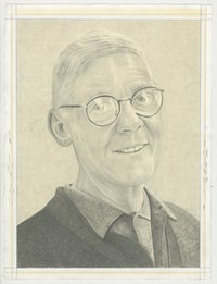 Portrait of James Bishop. Pencil on paper by Phong Bui.