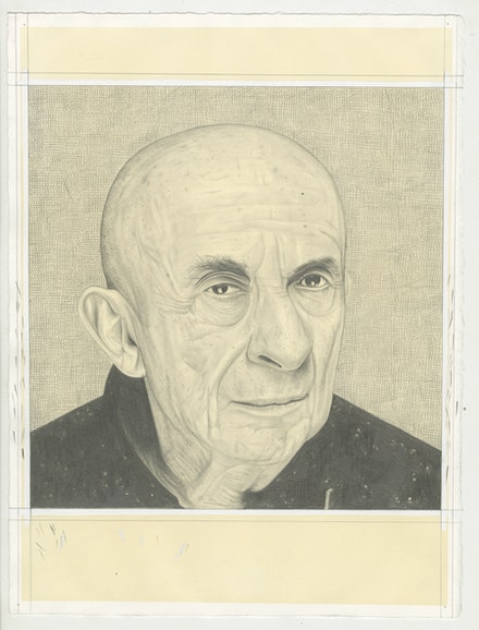 Portrait of Leon Golub. Pencil on paper by Phong Bui.