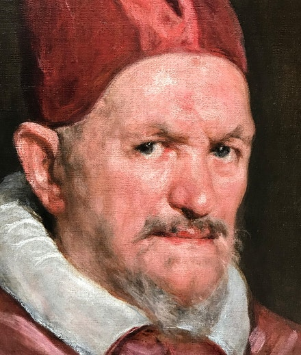 Diego Velazquez, <em>Portrait of Pope Innocent X</em>, c.1660, oil on canvas. (Detail)