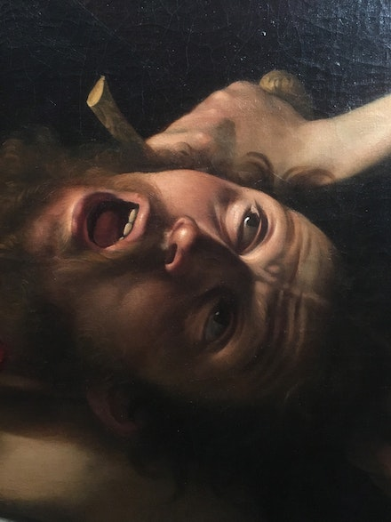 Caravaggio, <em>Judith Beheading Holofernes</em>, c. 1598-1599, oil on canvas, (detail). In the collection of the Galleria Nazionale d'Arte Antica at Palazzo Barberini, Rome. Courtesy Kieth Christiansen.