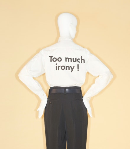 Franco Moschino for House of Moschino, Shirt, spring/summer 1991. Courtesy Moschino and the Metropolitan Museum of Art. Photo © Johnny Dufort, 2018.