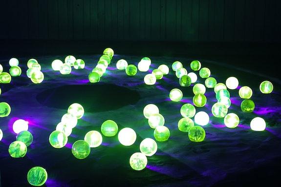 Jo Yarrington, <em>Uranium Games</em> (installation view). Courtesy WheatonArts.