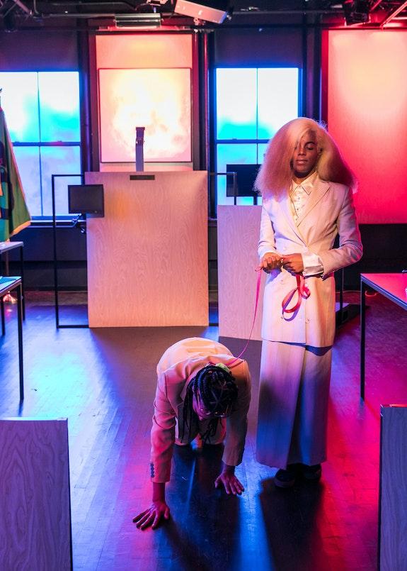 Hannah Black and Juliana Huxtable, <em>Penumbra,</em> 2019. Courtesy Performance Space New York. Photo: Rachel Papo.