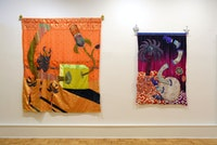 Installation view: Tim Zercie: <em>Regenbogenscherben,</em> Barney Savage Gallery, New York, 2019. Courtesy Barney Savage Gallery.