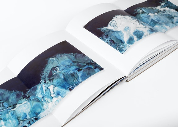 Interior spread of Littoral Drift, showing Littoral Drift #06 (Triptych, Rodeo Beach, Sausalito, CA 08.01.13, One Wave, Splashed). Courtesy Yossi Milo Gallery and Radius Books.