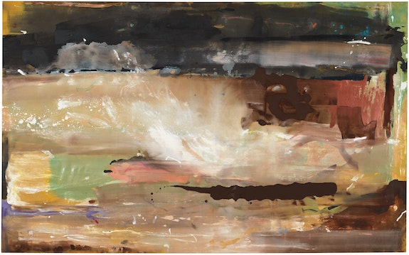 Helen Frankenthaler, <em>For E.M.,</em> 1981. Acrylic on canvas, 71 1/4 x 115 1/4 inches. © 2019 Helen Frankenthaler Foundation, Inc. / Artists Rights Society (ARS), New York. Photo: Rob McKeever. Courtesy Gagosian.