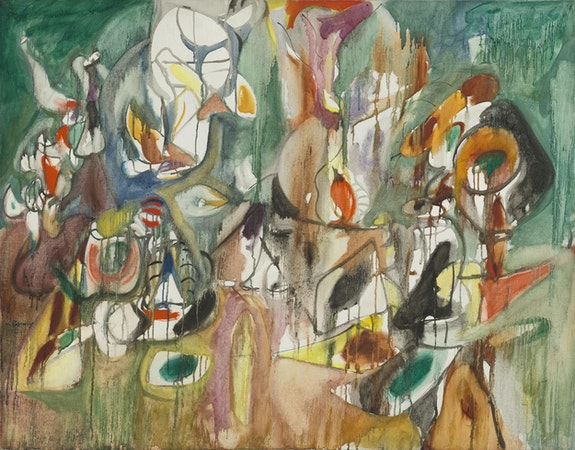 Arshile Gorky, <em>One year the Milkweed,</em> 1944. Oil on canvas, 37 x 46 3/4 inches. National Gallery of Art, Washington D. C.