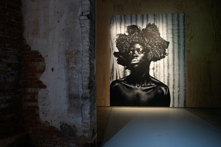 Installation view: 58th International Art Exhibition - La Biennale di Venezia, <em>May You Live In Interesting Times,</em> with work by Zanele Muholi. Photo: Italo Rondinella.