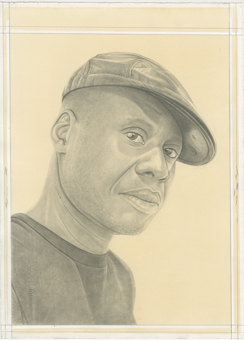 Portrait of Leonardo Drew. Pencil on Paper by Phong Bui.