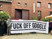 Fighting Google, Berlin. Photo: Jacob Blumenfeld