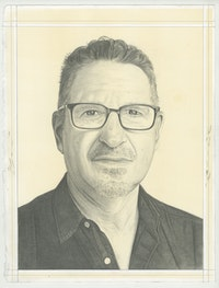 Portrait of George Bisacca, pencil on paper by Phong Bui.