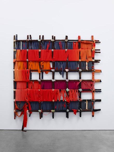 Sean Scully, <em>Wrapped Piece (Harvard)</em>, 1972. Acrylic, fabric, wood, 82 x 82 inches. © Sean Scully. Courtesy Lisson Gallery.
