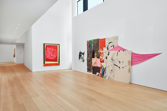 Installation view: <em>cart, horse, cart</em>, Lehmann Maupin, New York, 2019. Courtesy the artists and Lehmann Maupin, New York, Hong Kong, and Seoul. Photo: Matthew Herrmann.