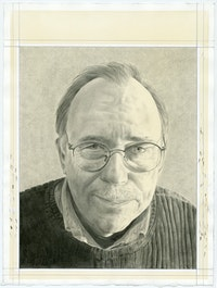 Portrait of Thomas Nozkowski, pencil on paper by Phong Bui.