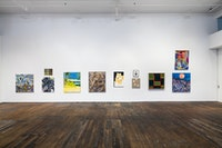 Installation view: <em>Downtown Painting</em>, Peter Freeman Gallery, New York, 2019. Photo: Nicholas Knight. Courtesy Peter Freeman, Inc.
