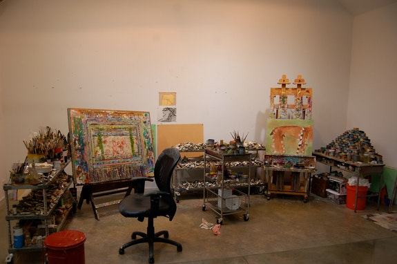 Thomas Nozkowski's studio, July 14, 2014. Photo: Jason Rosenfeld.