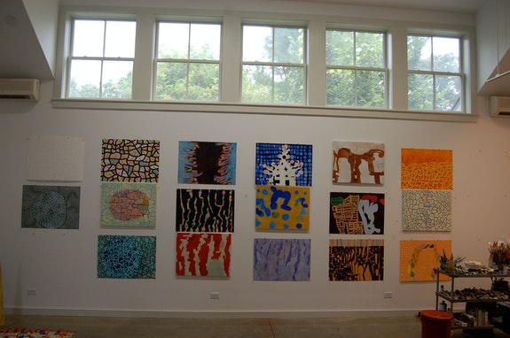 Thomas Nozkowski's studio, July 14, 2014. Photo: Jason Rosenfeld.
