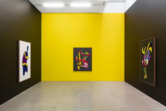 Installation view: <em>Tony Cox: Shadow Bathing</em>, Marlborough Contemporary, New York, 2019. Courtesy the artist and Marlborough, New York and London. Photo: Pierre Le Hors.