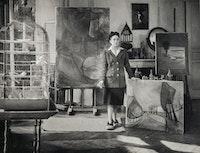 Brassaï, <em>Dora Maar dans son atelier rue de Savoie</em>, 1943. Silver gelatin print, 9 x 12 inches. Musèe national Picasso. © Adagp, Paris 2019. © Estate Brassaï - RMN-Grand Palais.