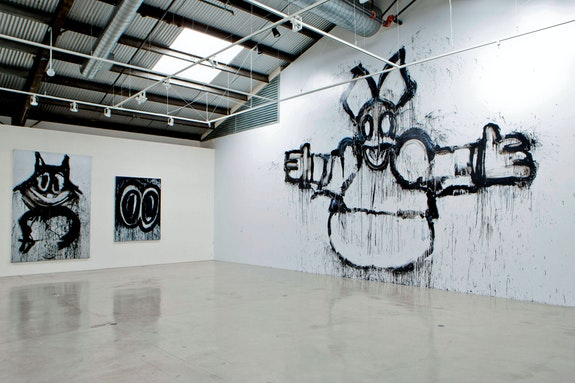Installation view: <em>Joyce Pensato, I KILLED KENNY</em>, Santa Monica Museum of Art, 2013. Courtesy the artist; Petzel, New York; Santa Monica Museum of Art. Photo: Monica Orozco.