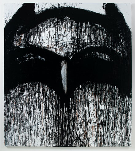 Joyce Pensato, <em>Holy Blackout Batman</em>, 2015. Courtesy the artist and Petzel, New York.