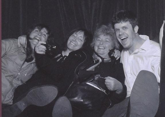 Left to right: Anne Ferrer, Holly Zausner, Joyce Pensato, Will Corwin. Photo courtesy Will Corwin.