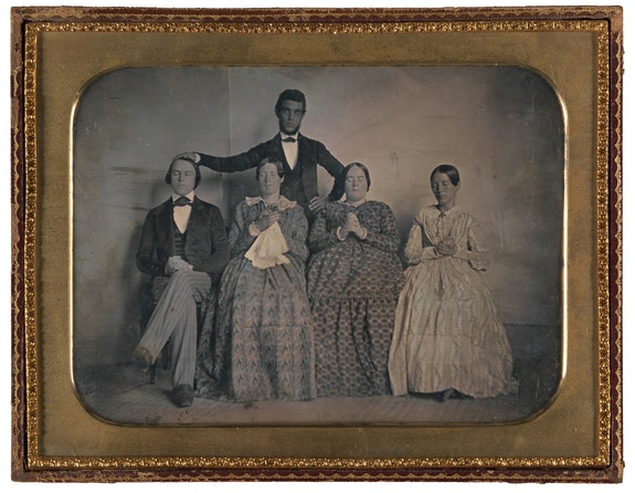 John Adams Whipple, <em>Hypnotism</em>, c.1845. Daguerrotype, 5 1/4 x 7 1/4 inches. Gilman Collection, the Metropolitan Museum of Art, New York.