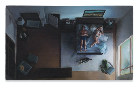 Amy Bennett, <em>Animals</em>, 2018, Oil on panel, 3 1/2 x 6 inches. Courtesy the artist and Miles McEnery Gallery, New York.