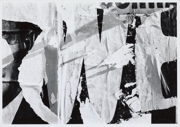 Ralston Crawford, <em>Torn Signs</em>, 1966. Silver gelatin print, 8 x 10 inches. Vilcek Collection. Courtesy the Vilcek Foundation.
