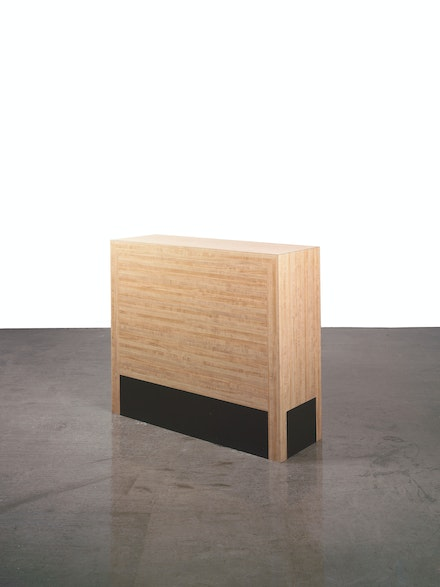 Richard Artschwager, Chest of Drawers, 1964. Original fabrication; 1979 re-fabricated, Formica on wood, 36 x 42 x 14 inches. Hall Collection. © Richard Artschwager.