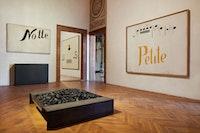Installation view: Jannis Kounellis, Fondazione Prada, Venice, 2019. Courtesy Fondazione Prada. Photo: Agostino Osio - Alto Piano.