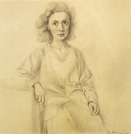 Willem de Kooning,<em> Elaine de Kooning</em>, 1941-43. Pencil on paper, 12 1/4 x 11 7/8 inches. © The Willem de Kooning Foundation/ Artists Rights Society (ARS), New York.