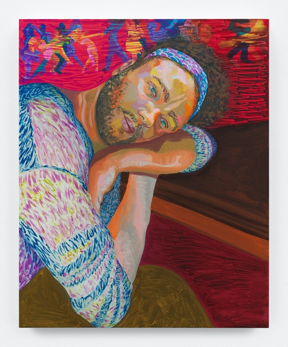 Aliza Nisenbaum, <em> Randy</em>, 2018. Oil on linen, 32 x 26 inches. Courtesy Anton Kern Gallery.