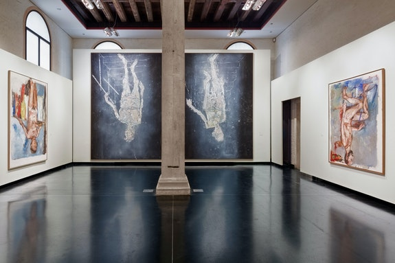 Installation view: <em>Georg Baselitz: Academy</em>, Galleria dell' Accademia, Venice, 2019. Courtesy Galleria dell' Accademia.