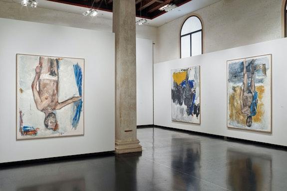 Installation view: <em>Georg Baselitz: Academy</em>, Galleria dell' Accademia, Venice, 2019. Courtesy Galleria dell' Accademia.