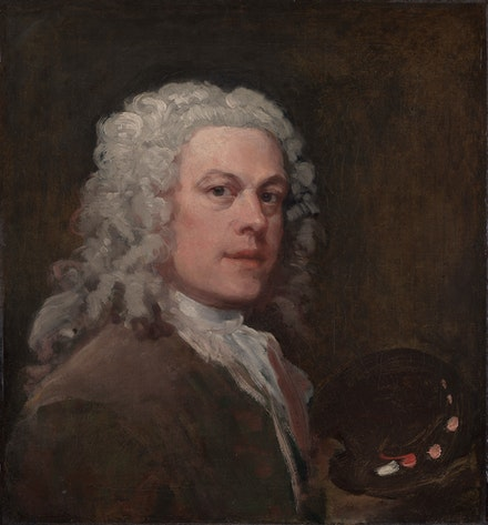 William Hogarth, <em>Self-Portrait</em>, ca. 1735, Yale Center for British Art, Paul Mellon Collection.