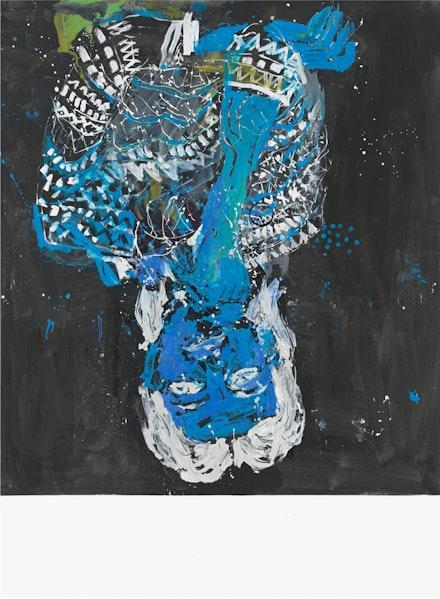 Georg Baselitz, <em>Elke negativ blau</em>, 2012. Oil on canvas, 280 x 207 cm. © Georg Baselitz 2019. Photo: Jochen Littkemann, Berlin.